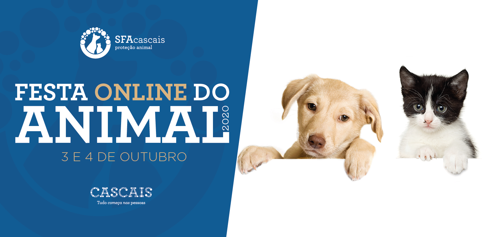 Festa Online do Animal 2020 | 3 e 4 de Outubro